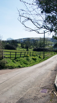 Butts lane is very quiet...with views of the countryside!